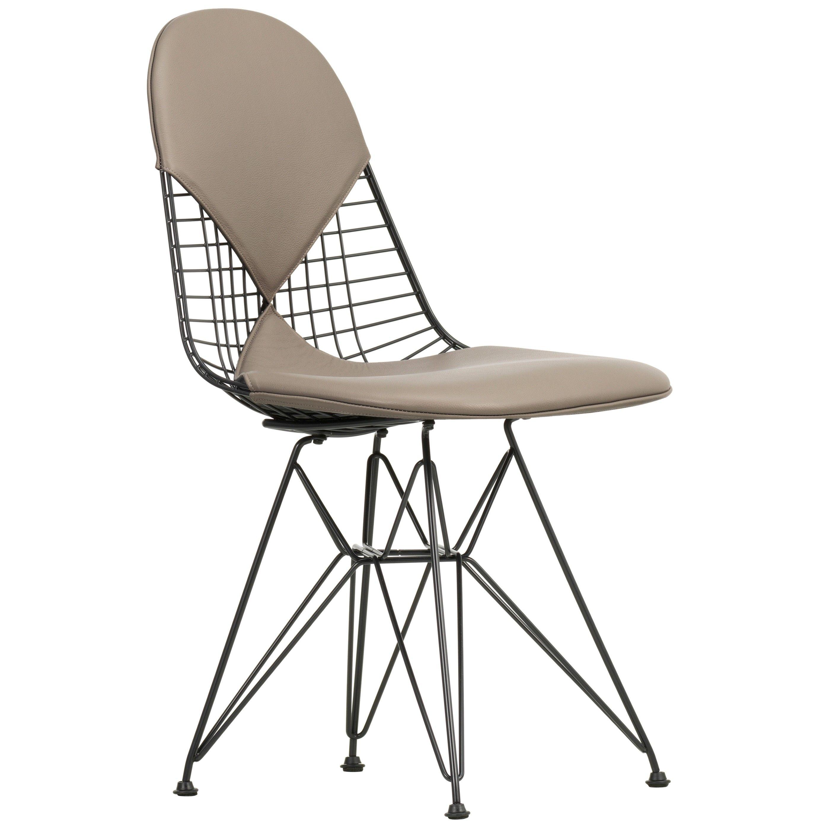 Vitra Design Stoelen.Vitra Eames Wire Chair Dkr 2 Stoel Gepoedercoat Onderstel