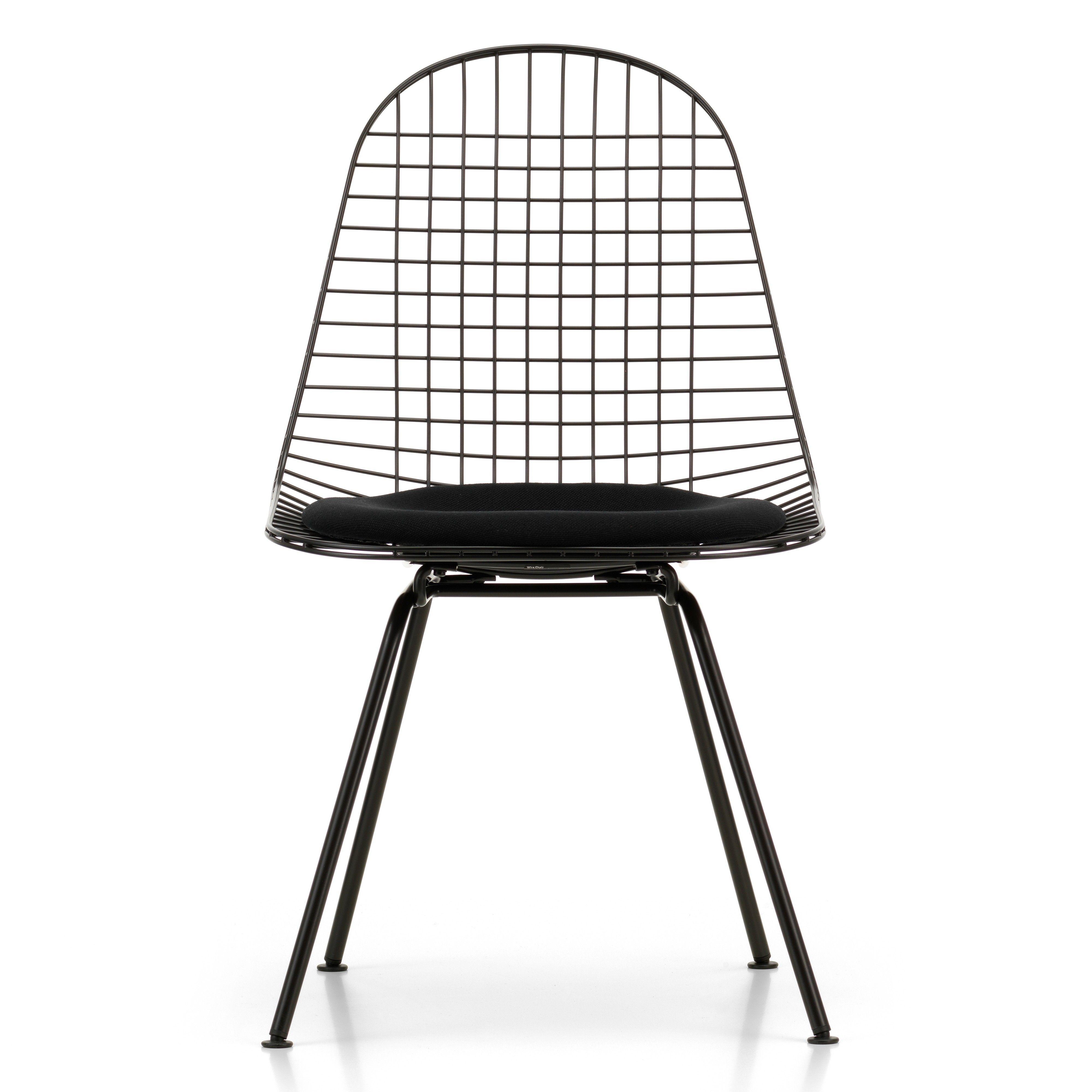 Eames Bureaustoel Vitra.Vitra Eames Wire Chair Dkx 5 Stoel Gepoedercoat Onderstel