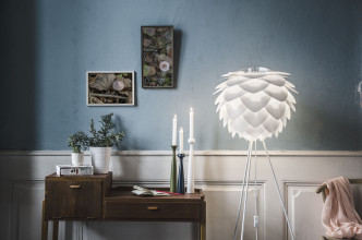 Umage Silvia vloerlamp met wit onderstel