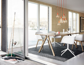 Muuto Tweedekansje - Fiber Wood stoel dusty green