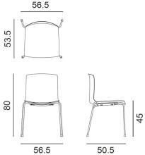 Arper Catifa 46 Tube stoel