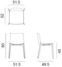 Arper Catifa 46 Wood stoel