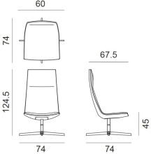 Arper Catifa 60 Lounge High fauteuil