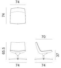 Arper Catifa 60 Lounge Low fauteuil