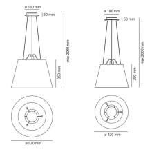 Artemide Tolomeo Mega Sospensione hanglamp armatuur aluminium