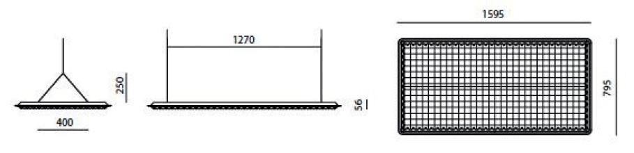 Artemide Eggboard akoestisch paneel 160x80