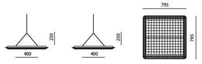 Artemide Eggboard akoestisch paneel 80x80