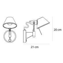 Artemide Tolomeo Micro Faretto wandlamp LED 2700K