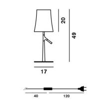 Foscarini Birdie Piccola tafellamp met aan-/uitschakelaar