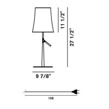 Foscarini Birdie tafellamp met dimmer