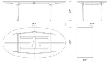 Carl Hansen & Son CH339 uitschuifbare tafel 240x115