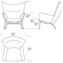 Carl Hansen & Son CH445 Wing fauteuil
