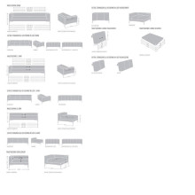 Design on Stock Aikon Lounge bank 3-zits + 1-zits 0-arm hoekopstelling