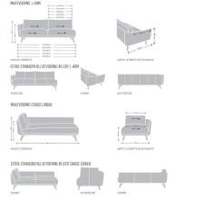 Design on Stock Byen bank 3-zits 1-arm + chaise longue