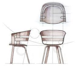 Design House Stockholm Wick Wood stoel
