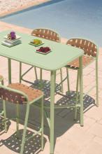 Emu Yard Ash bar tuinset 180x70 statafel + 4 barkrukken