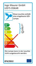 Ingo Maurer LED's Oskar bureaulamp LED
