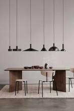Ferm Living Dome Black Brass hanglamp