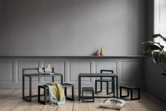 Ferm Living Tweedekansje - Little Architect kindertafel roze