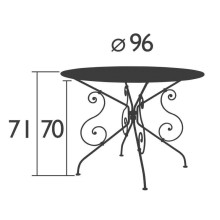Fermob 1900 tuintafel 96cm