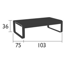Fermob Bellevie salontafel buiten 103x75