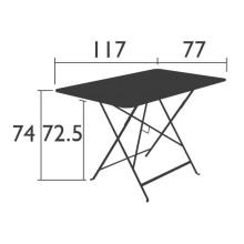 Fermob Bistro tuintafel 117x77