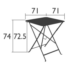 Fermob Bistro tuintafel 71x71