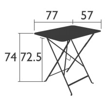 Fermob Bistro tuintafel 77x57
