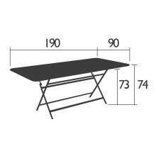 Fermob Caractère tuintafel 90x190