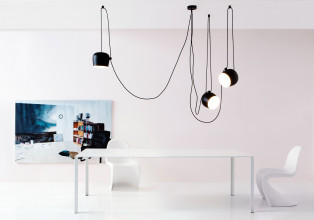 Flos Aim hanglamp set 5 LED zwart