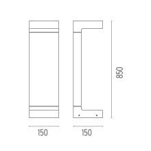 Flos Casting C 150x850 sokkellamp LED 2700K