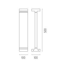Flos Casting T 100x500 sokkellamp LED 2700K