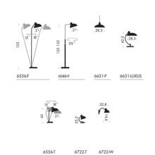 Lightyears KAISER idell kantelbare vloerlamp