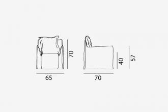 Gervasoni Ghost 05 fauteuil