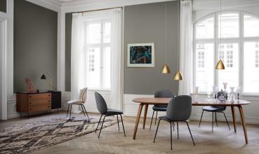 Gubi Gubi Dining Table 230x120 Esszimmerset + 6 Gubi 5 Stühle