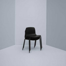Hay About a Chair AAC16 stoel met wit onderstel