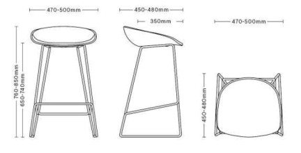 Hay About a Stool AAS38 barkruk 75cm