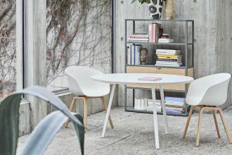 Hay Copenhague tafel CPH30 gelakt eiken 200x90 eetkamerset + 6 AAC22 stoelen