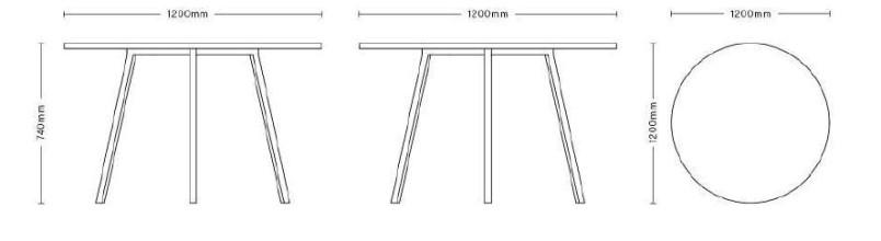 Hay Loop Stand tafel rond 120