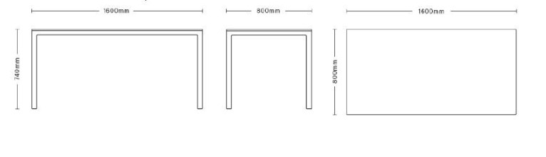 Hay T12 tafel 160x80