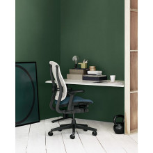 Herman Miller Celle Upholstered Green Bureaustoel