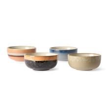 HKliving 70's Ceramic schaal medium set van 4
