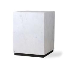 HKliving Block bijzettafel wit marmer