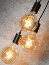 It's about Romi Oslo H3 hanglamp zwart