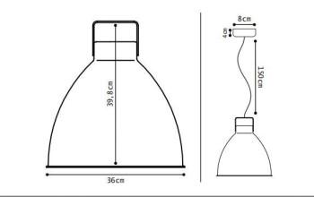 Jieldé Augustin A360 hanglamp