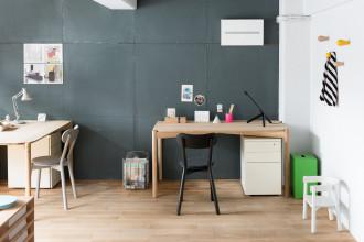 Karimoku New Standard Castor Pad gestoffeerde stoel