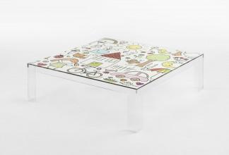 Kartell Invisible kindertafel 100x100