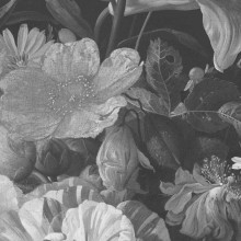 KEK Amsterdam Golden Age Flowers behangcirkel zwart wit