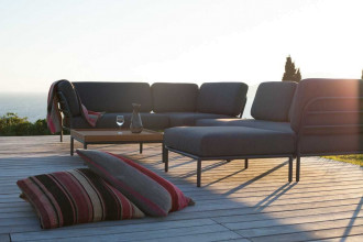 Houe Level loungeset tuin 4 dark grey