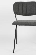 Livingstone Design Parton eetkamerstoel zwart onderstel